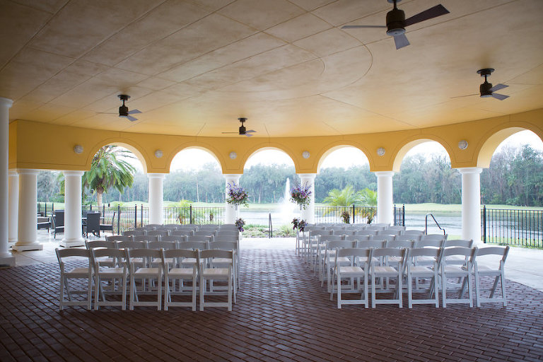 Outdoor, Tampa Wedding Ceremony at Venue Tampa Palms Golf and Country Club | Tampa Wedding Photographer Carrie Wildes Photography