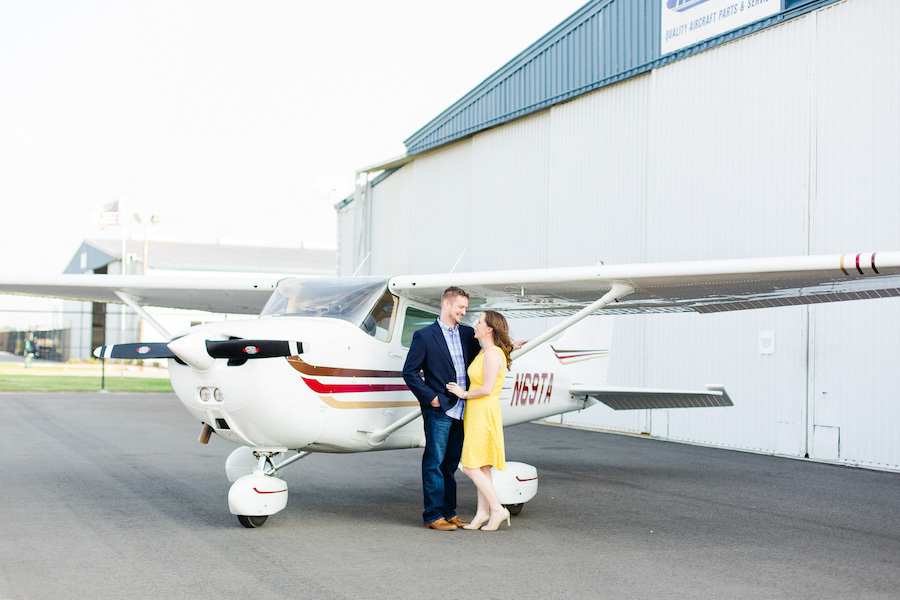 Airport, Travel Inspired Engagement Session with Airplane   Lakeland Wedding and Engagement Photographer Ailyn La Torre Photography