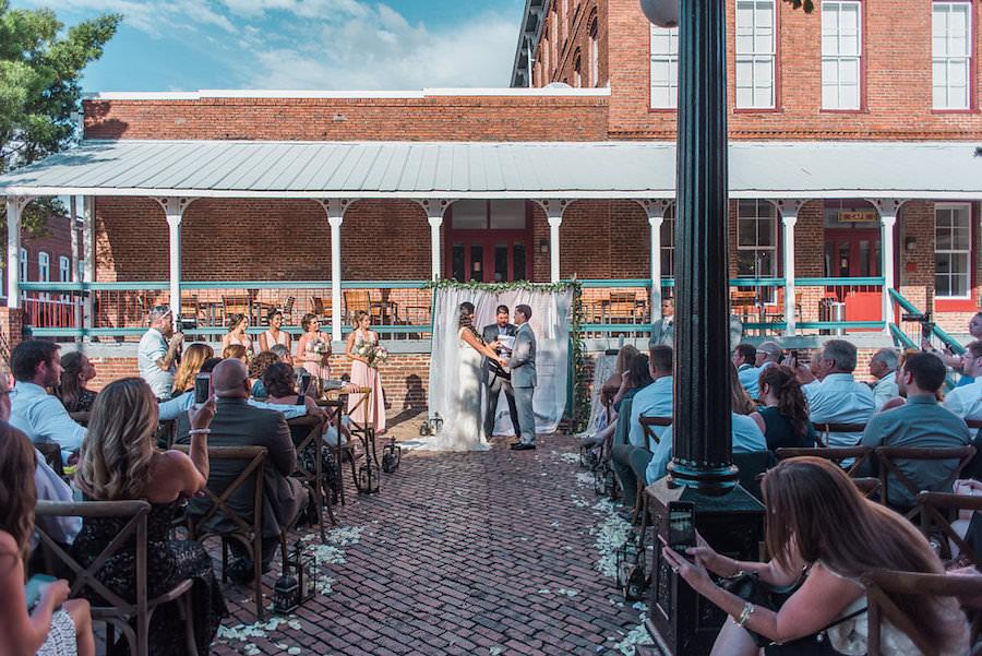Outdoor, Tampa Wedding Ceremony at Outdoor, Ybor City Wedding Venue CL Space