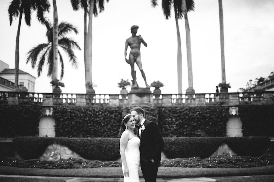 Bride and Groom Outdoor Wedding Portrait   Sarasota Wedding Planner NK Productions