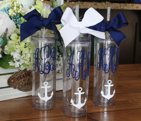 ETSY Personalized Skinny Tumbler | Useful Bridal Party Gift Ideas
