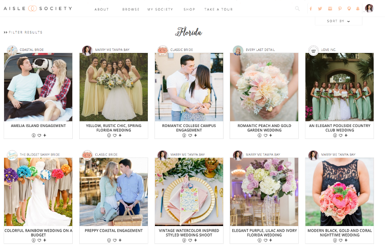 Wedding Blog Inspiration from the Aisle Society