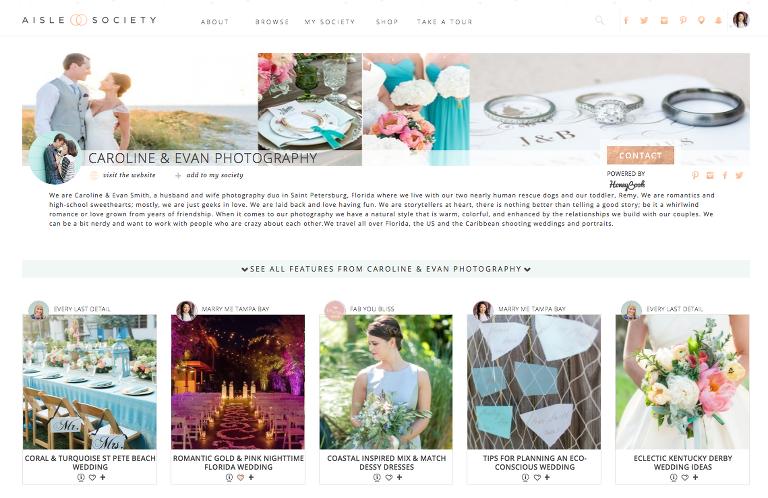 Wedding Blog Inspiration from the Aisle Society | St. Pete Wedding Photographer Caroline & Evan Photography
