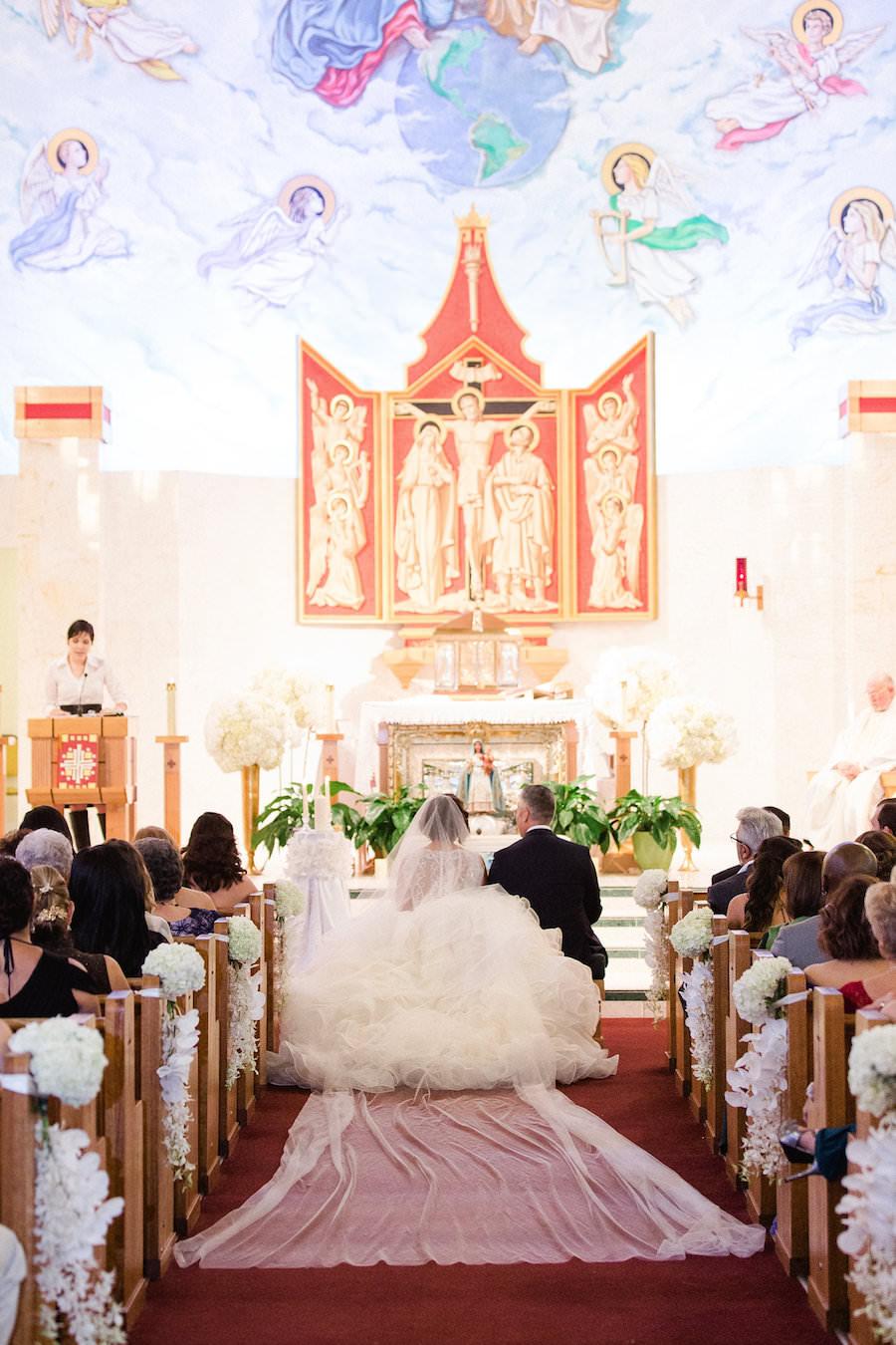 Liana Fuente Wedding Ceremony Portrait at St. Joseph's Catholic Church | Tampa Wedding Photographer Ailyn La Torre Photography