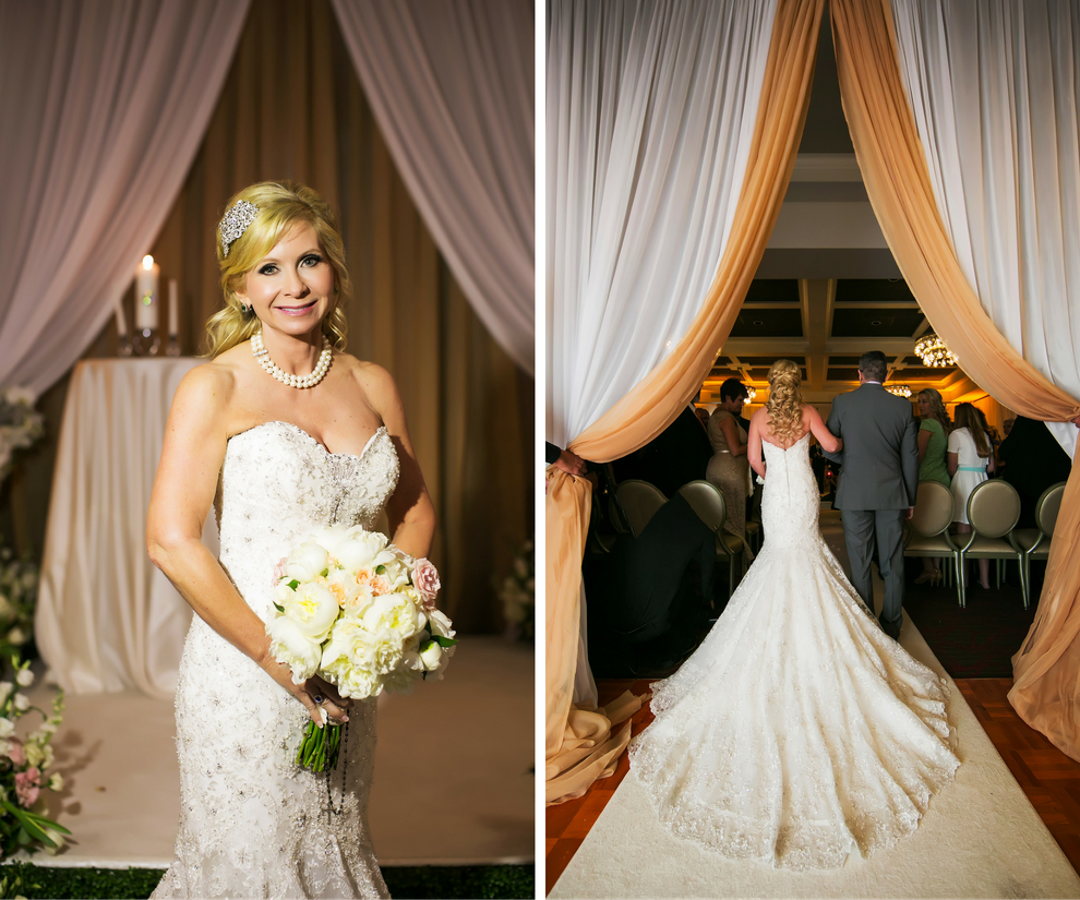 Bridal Wedding Portrait in Allure Couture Swarovski Crystal Sweetheart Mermaid Wedding Dress with Ivory Rose Wedding Bouquet   St. Petersburg FL Wedding Photography Limelight Photography