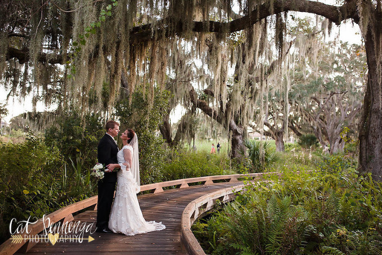 Bride and Groom Outdoor Wedding Portrait | Sarasota Wedding Planner Jennifer Matteo Events