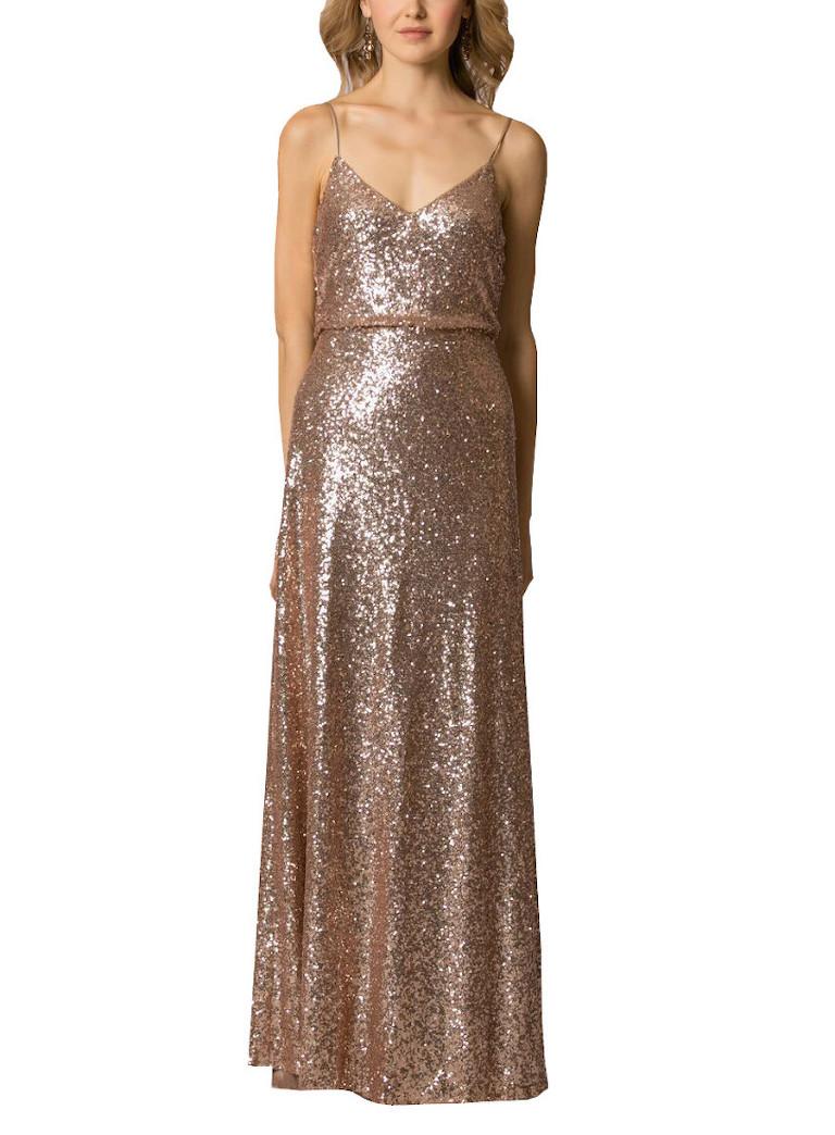 Gold Beaded Jenny Yoo Jules Wedding Bridesmaid Dress | Bella Bridesmaids Tampa