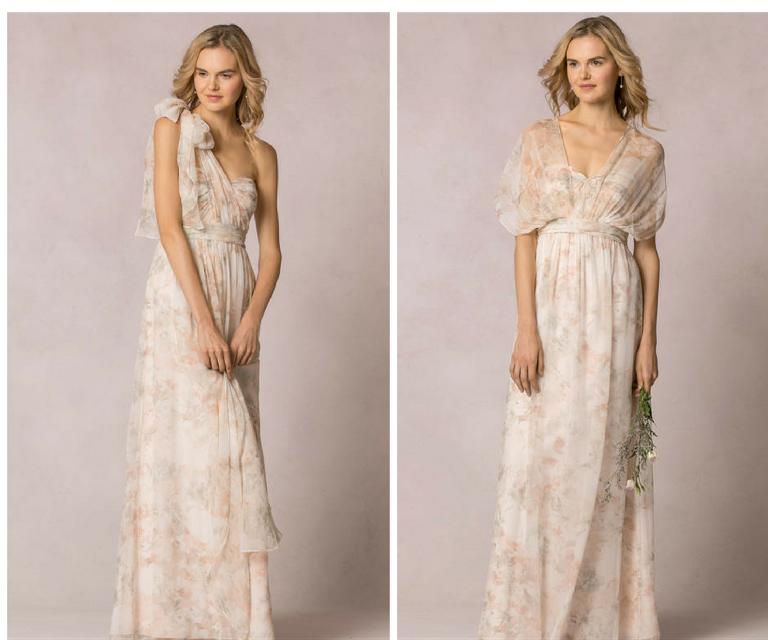 Jenny Yoo Nyla Print Watercolor Convertible Bridesmaid Dress at Bella Bridesmaids Tampa