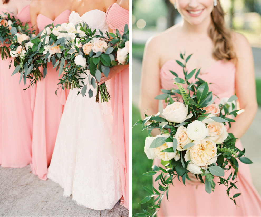 Wedding Bridal Wedding Bouquets With Peach And White Peonies Roses