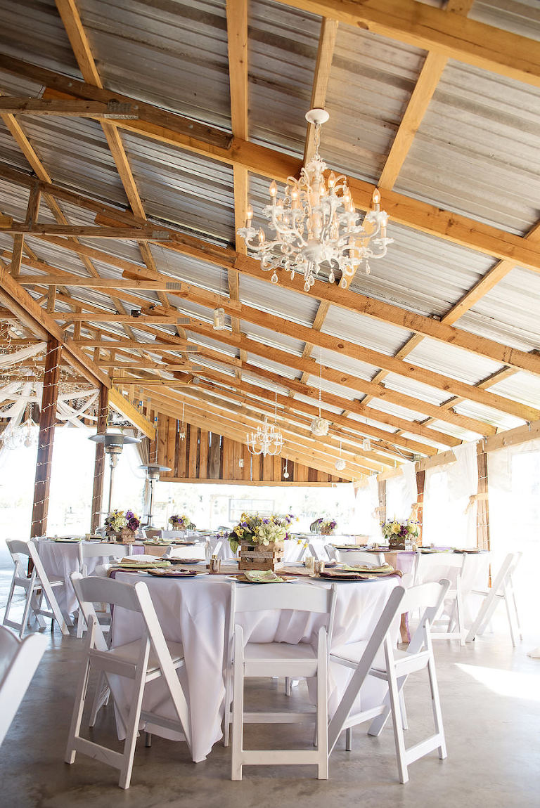 Outdoor Country Chic Rustic Plant City Barn Wedding