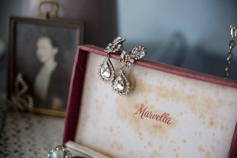 Crystal, Chandelier Bridal Wedding Earrings | Tampa Wedding Photographer Kristen Marie Photography