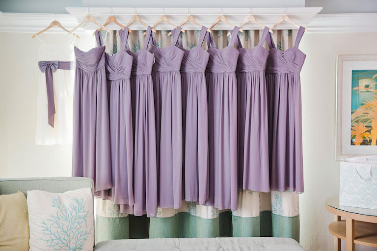 Lilac Chiffon Bella Bridesmaids Dresses | Tampa Wedding Photographer Marc Edwards Photographs