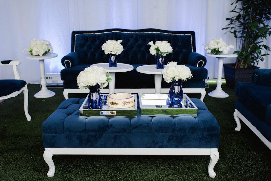 Blue Velvet Tufted Wedding Lounge Furniture