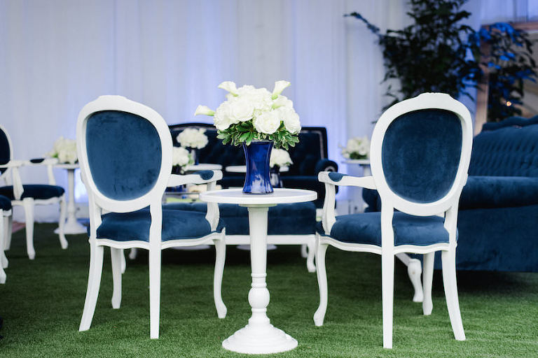 Blue Velvet Tufted Wedding Lounge Furniture