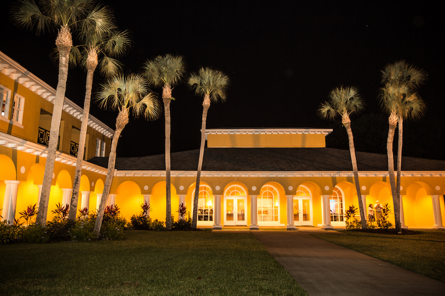 Nighttime Portrait of Tampa Wedding Venue Tampa Palms Golf and Country Club