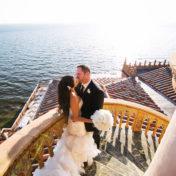 Bride and Groom Wedding Portrait | Bride in Maggie Sottero Dress | Sarasota Wedding Venue Ca