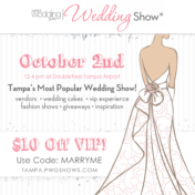 Tampa Perfect Wedding Guide Bridal Show October 2, 2016 at Hilton Doubletree Tampa Airport Hotel