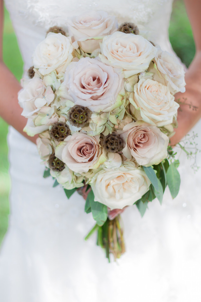 Ivory and Blush Pink Rustic Bridal Wedding Bouquet