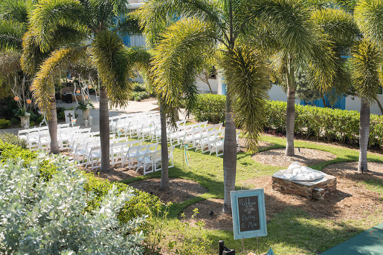 St. Petersburg Beach Wedding Ceremony Decor