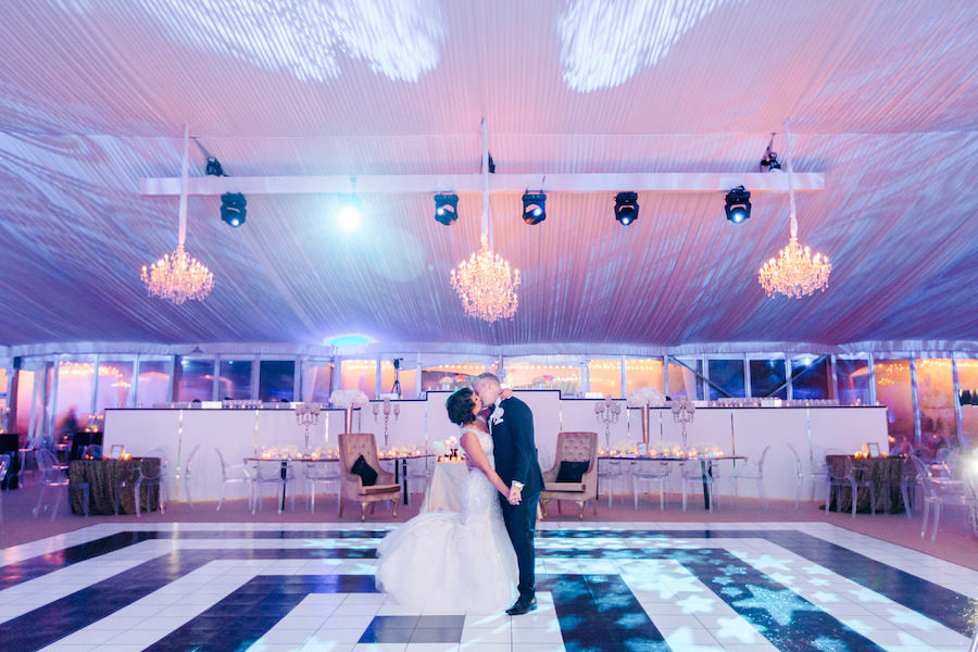 Bride and Groom First Dance on Wedding Day Portrait | Downtown Tampa Wedding Photographer Ailyn La Torre Photography