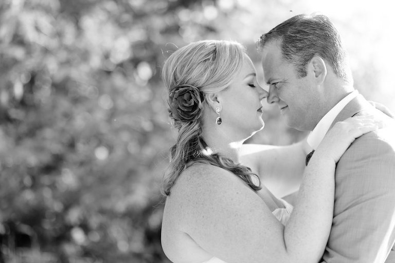 Bride and Groom, Outdoor Wedding Portrait | St. Petersburg Wedding Photographers Caroline and Evan Photography