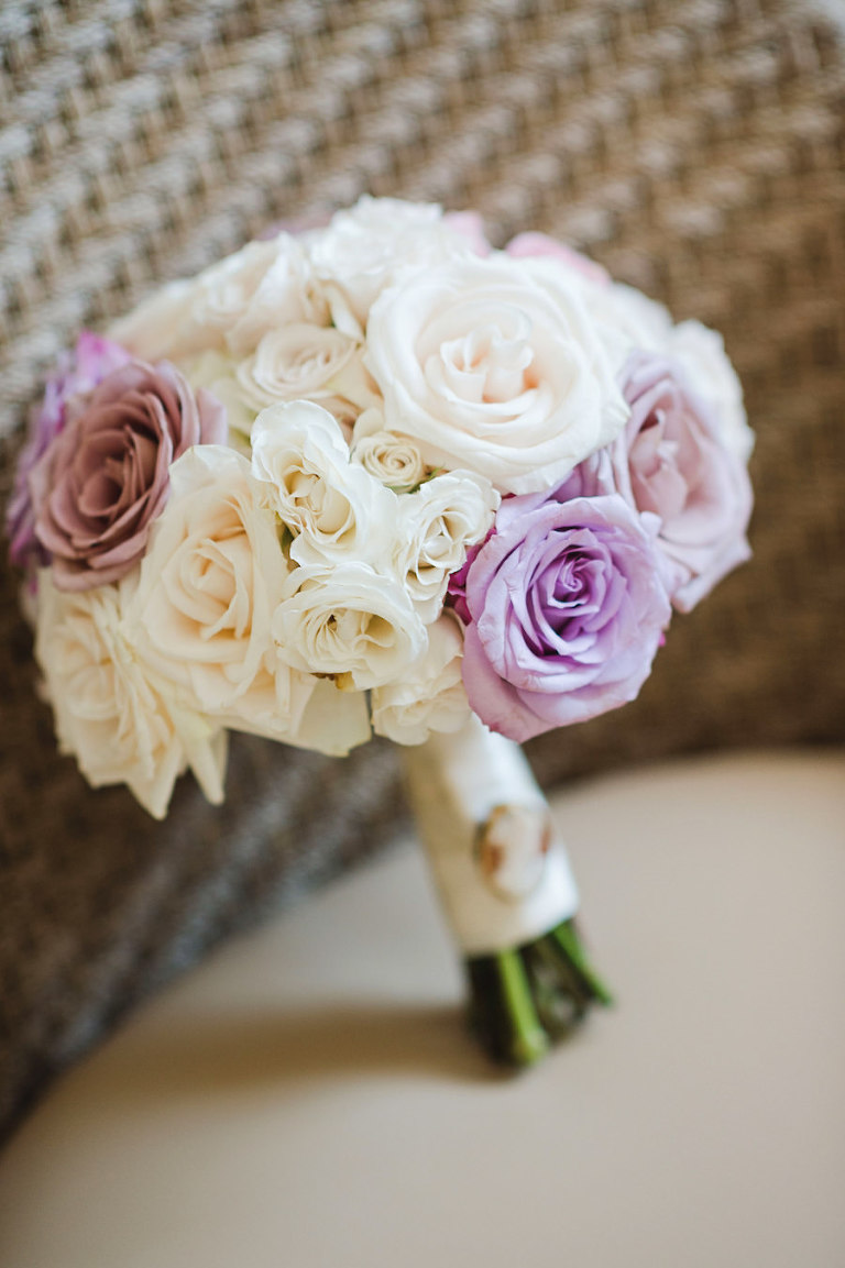 Ivory, Lilac and Blush Rose Wedding Bouquet | Tampa Wedding Photographer Marc Edwards Photographs