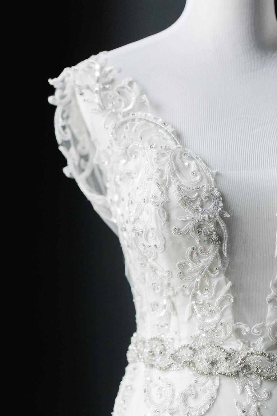 "Ines Di Santo ""Salerno"" Sleeveless Beaded Mermaid Wedding Dress from Tampa Bridal Shop Isabel O'Neil Bridal | Tampa Wedding Photographer Ailyn La Torre Photography"