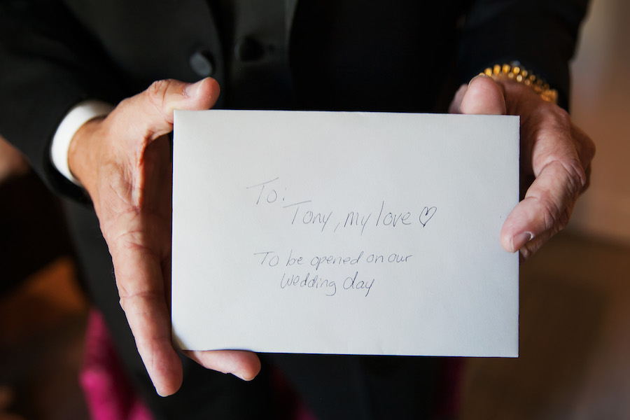 Bride's Letter to the Groom Card Wedding Portrait   St Petersburg Wedding Photographer Limelight Photography