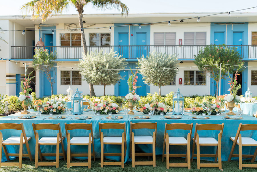 Coral And Turquoise Wedding: Coral & Turquoise, Outdoor St. Pete Beach Postcard Inn Wedding