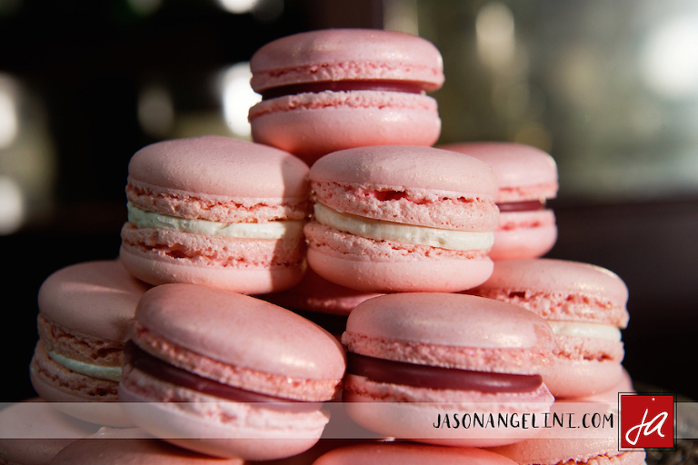 Custom Pink Wedding Macaroon Favors | Dessert Favors in Tampa Bay by The Artistic Whisk