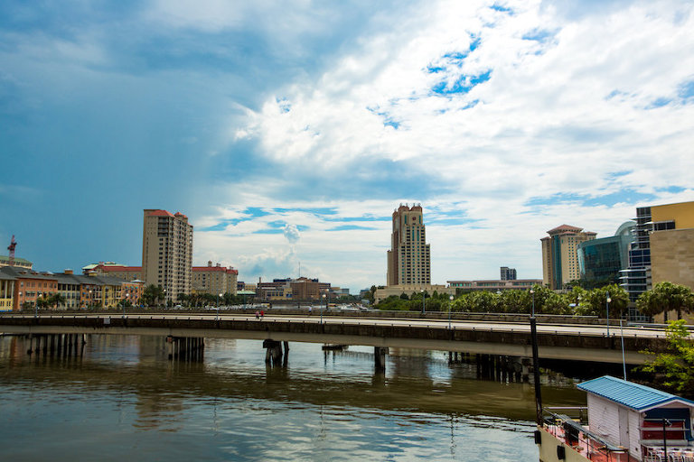 Waterfront Downtown Tampa Skyline