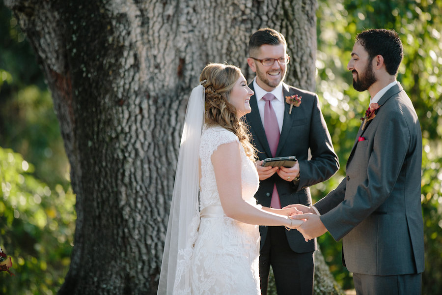 Bride and Groom Exchanging Vows at Dover, Outdoor Wedding Ceremony