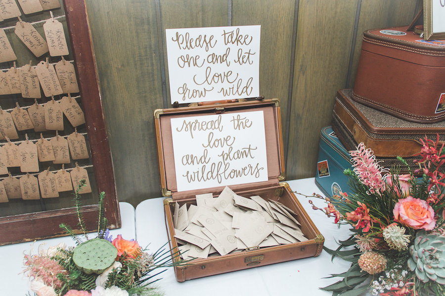 St. Pete Wedding Reception Wildflower Seed Guest Gift