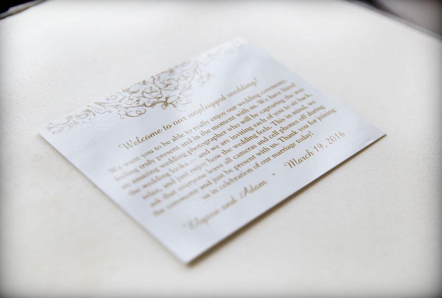 White and Gold Unplugged Wedding Signage