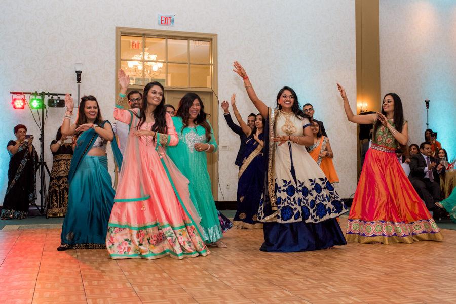 Indian Wedding Raas-Garba Dancing Wedding Portrait at The Palmetto Club at Fishhawk Ranch Wedding Venue
