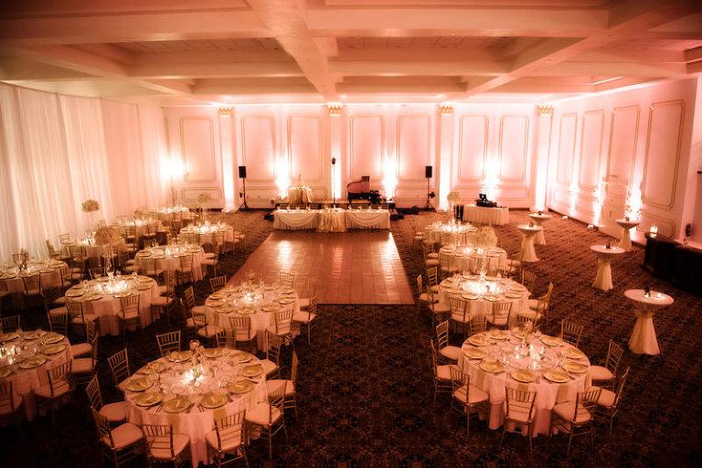 Elegant Romantic, Indoor Ballroom Wedding Reception at Historic Downtown Tampa Wedding Venue The Floridan Palace