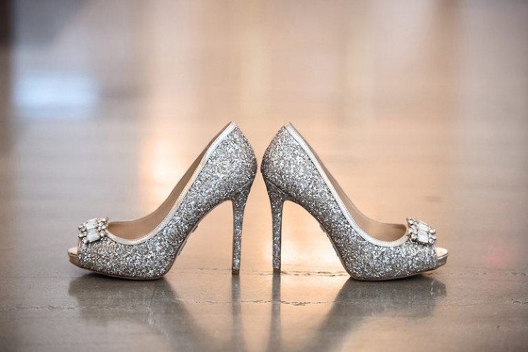 Glitter Sparkly Wedding High Heel Shoes
