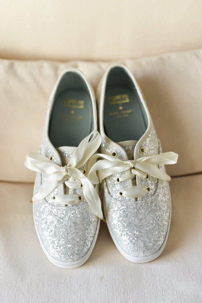 Silver Glitter Kate Spade for Keds Bridal Wedding Day Shoes