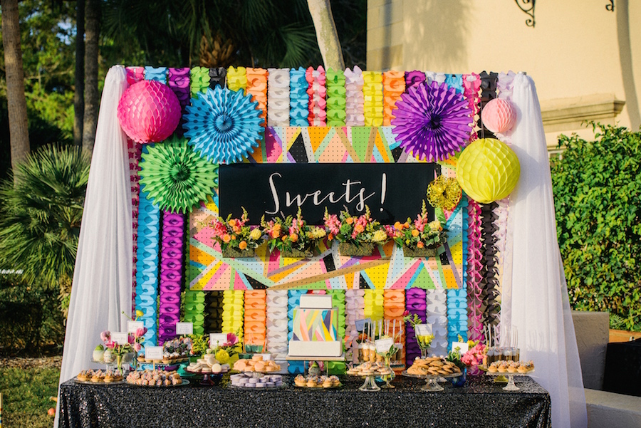 Festive Tampa Wedding and Event Dessert Favor Table and Dessert Bar by Hands on Sweets, Tampa Wedding Cake Bakery