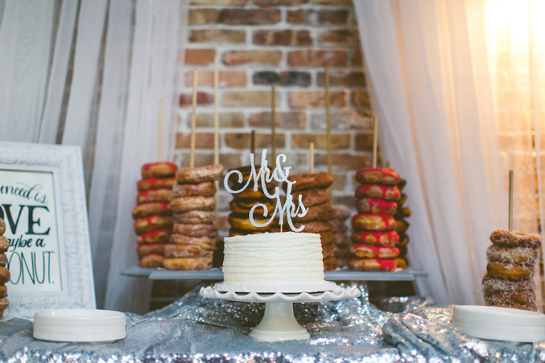 Tampa Bay Wedding Dessert Bar, Event Planning by Sarasota Wedding Planner Jennifer Matteo Event Planning with Donut Favors by Amish Donuts | Wedding Dessert Table Favorites