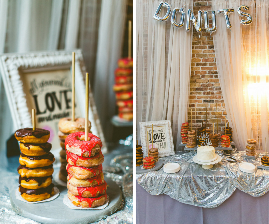 Tampa Bay Wedding Dessert Bar, Event Planning by Sarasota Wedding Planner Jennifer Matteo Event Planning with Donut Favors by Amish Donuts   Wedding Dessert Table Favorites