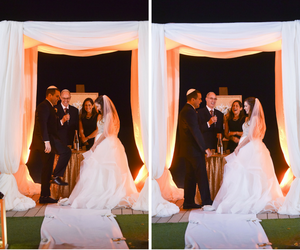 Elegant, Outdoor Jewish Wedding Ceremony in Clearwater Beach, Fl Under White Chuppah