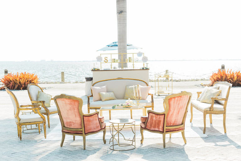 Outdoor Wedding Ceremony Seating | Tampa Bay Vintage Wedding Furniture and Rentals | The Reserve Vintage Rentals