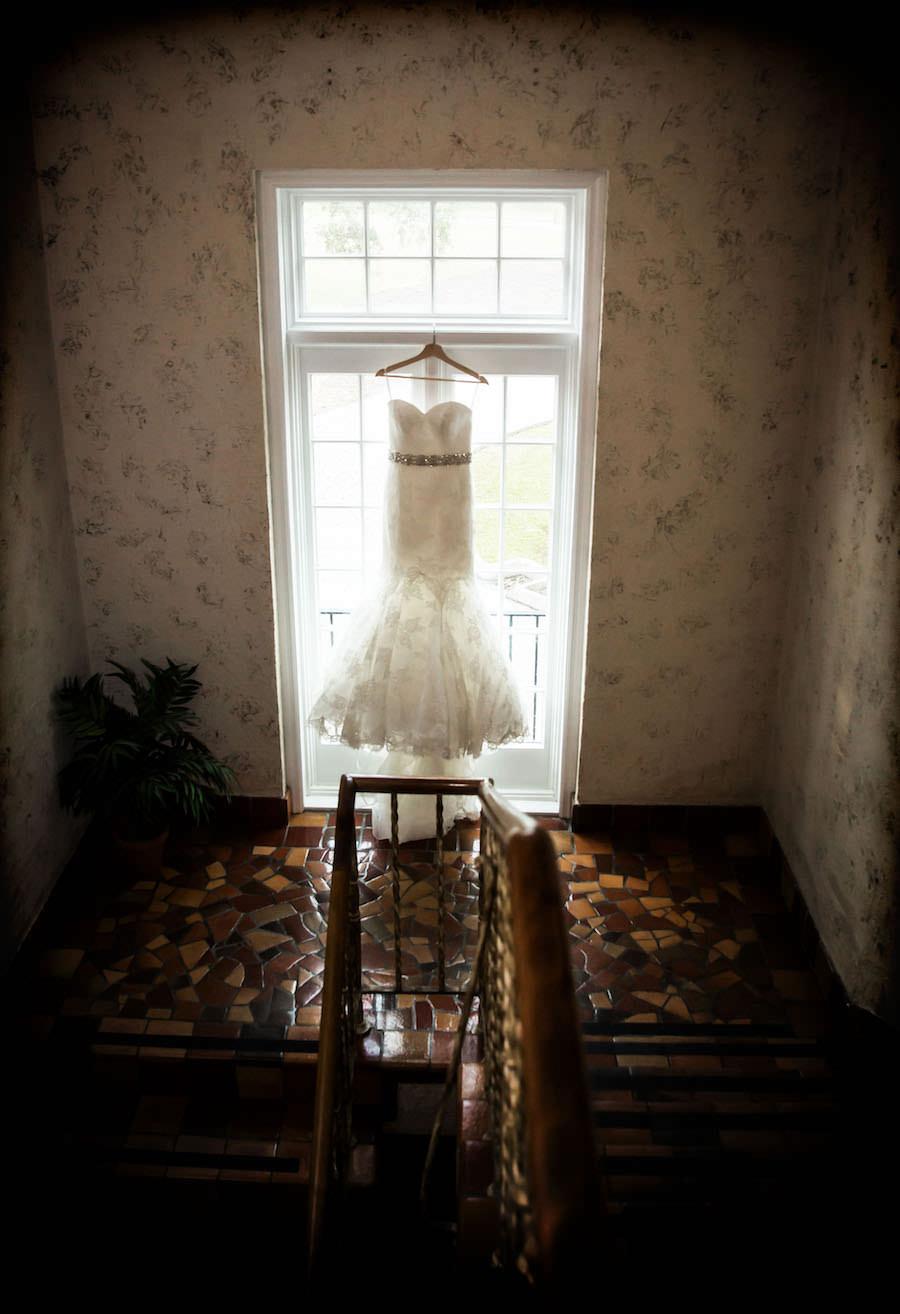 Ivory, Lace, Allure Bridal Wedding Dress with Crystal, Rhinestone Sash