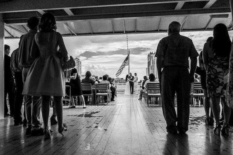 Cherished Ceremonies Weddings Tampa Wedding: Tropical Gold Waterfront Tampa Wedding