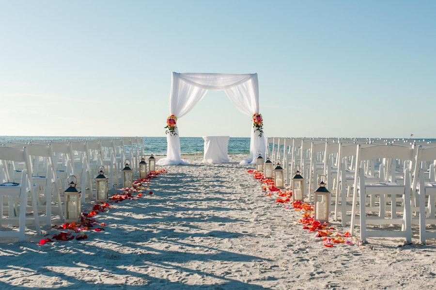 Outdoor, Waterfront Beach Wedding Ceremony at St. Pete Wedding Venue Loews Don CeSar