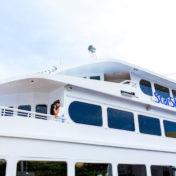 Bride and Groom Wedding Portrait | Downtown Tampa Wedding Venue Yacht StarShip