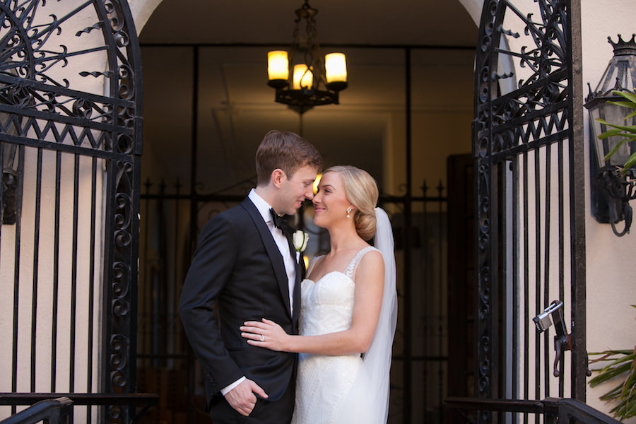 Bride and Groom Downtown Tampa Wedding Portrait   Tampa Wedding Photographer Carrie Wildes Photographer