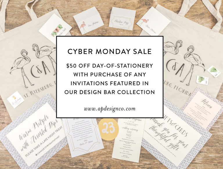 A&P Designs Cyber Monday Sale | Wedding Invitations and Stationery