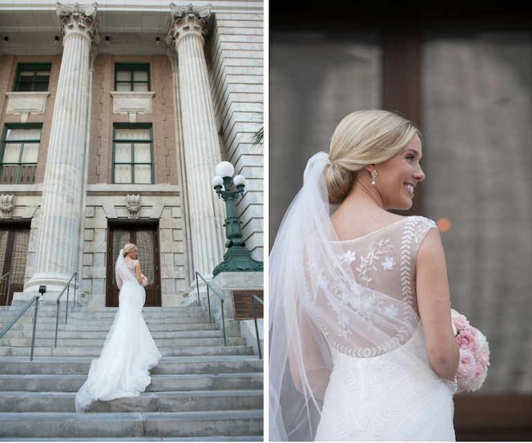 Wedding Gowns Tampa: Glamorous Champagne And Blush Downtown Tampa Wedding